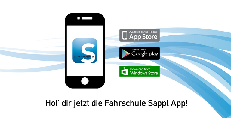 Fahrschule Sappl App - Google, App Store und Windows Store